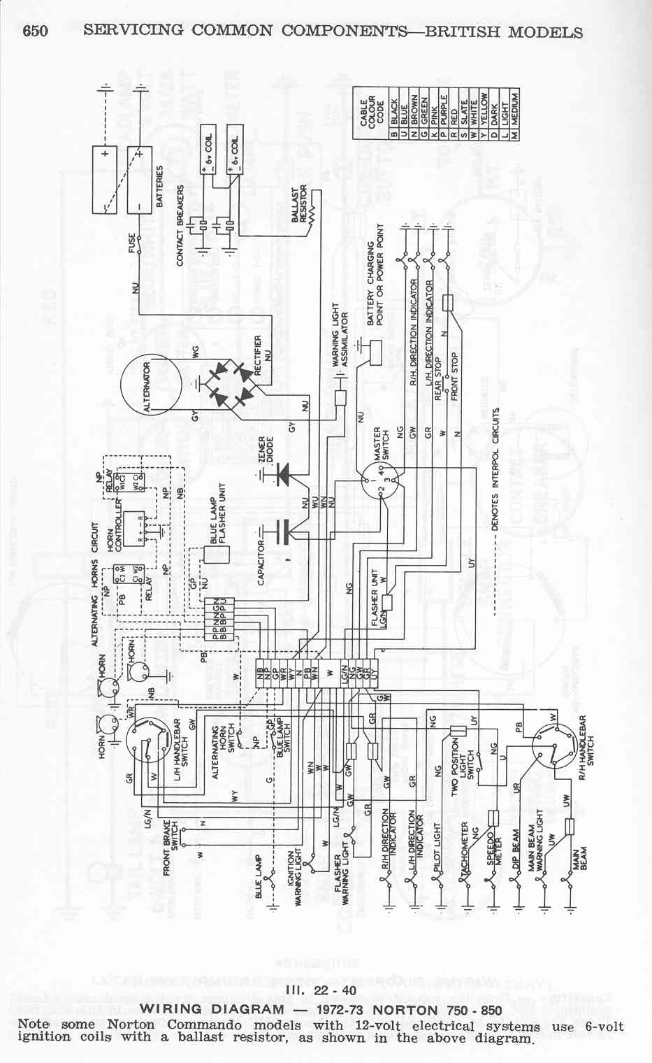 850 Norton Wiring Diagram 1975 Diagrams Harness Commando 1974 39 White